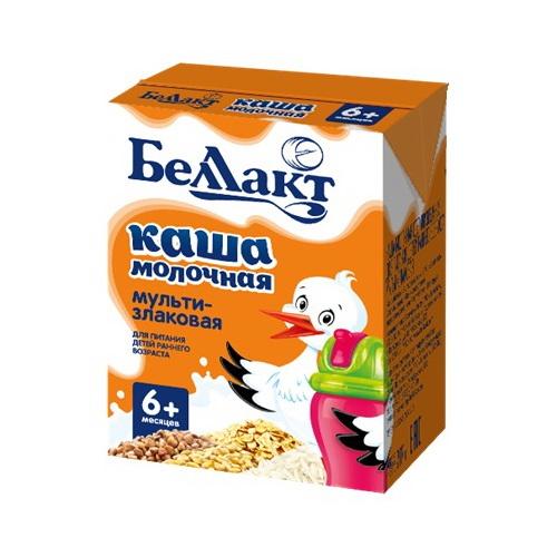 Каша Беллакт молочная мултизлаковая