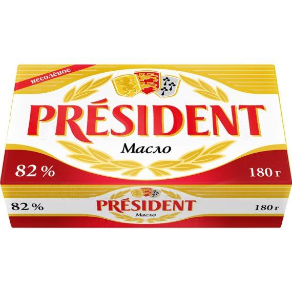 Масло Кислосливочное несолёное President